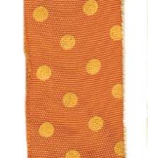 Polka Dot Ribbon - Tangerine / Yellow