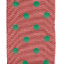 Polka Dot Ribbon - Holiday Red / Lime