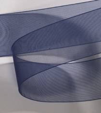 Organdy Ribbon - Navy Blue_LARGE