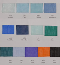 Organdy Sheer Ribbon   -  Sample card LARGE