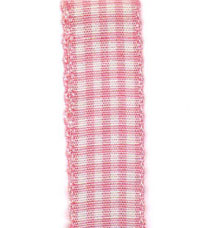 Country Check Ribbon - Pink