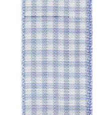 Country Check Ribbon - Lavender LARGE