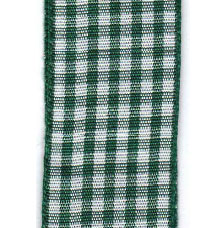 Country Check Ribbon - Hunter LARGE
