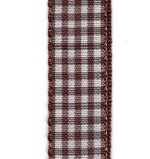 Country Check Ribbon - Brown