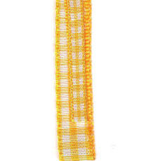 Country Check Ribbon - Bright Yellow LARGE