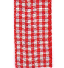 Country Check Ribbon - Red LARGE