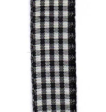 Country Check Ribbon - Black LARGE