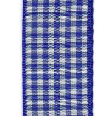 Country Check Ribbon - Royal Blue_LARGE