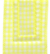 Country Check Ribbon - Light Yellow