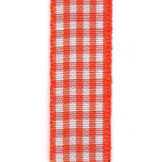 Country Check Ribbon - Orange LARGE