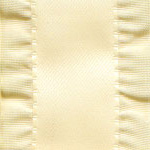 Double Ruffle Ribbon - Ivory LARGE