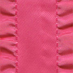 Double Ruffle Ribbon -  Hot Pink LARGE