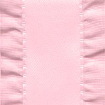 Double Ruffle Ribbon -  Pink