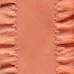 Double Ruffle Ribbon - Peach_LARGE