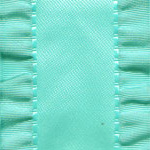 Double Ruffle Ribbon -  Aqua_LARGE