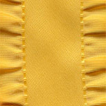 Double Ruffle Ribbon - Dandelion
