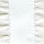 Double Ruffle Ribbon - White