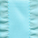 Double Ruffle Ribbon -  Light Blue LARGE