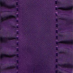 Double Ruffle Ribbon - Plum
