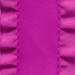 Double Ruffle Ribbon - Fuchsia