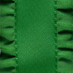Double Ruffle Ribbon - Emerald