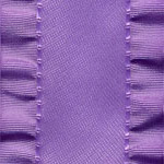 Double Ruffle Ribbon - Lavender
