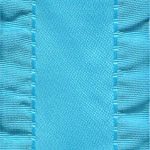 Double Ruffle Ribbon -  Misty Turqoise