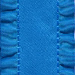 Double Ruffle Ribbon - Royal Blue
