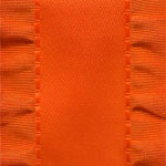 Double Ruffle Ribbon -  Orange LARGE