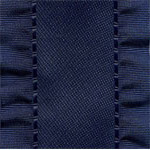 Double Ruffle Ribbon - Navy Blue