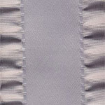 Double Ruffle Ribbon - Shell Grey