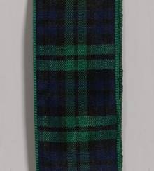Edinburgh Plaid Ribbon - Black Watch LARGE