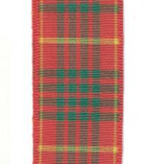 Edinburgh Plaid Ribbon - Cameron LARGE