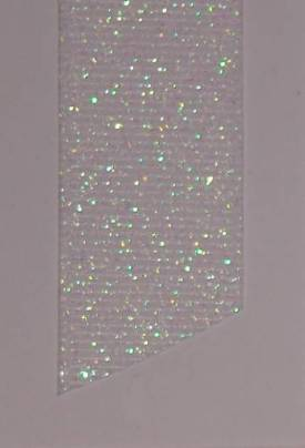 Dazzle (Glittered Grosgrain) - White LARGE