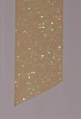 Dazzle (Glittered Grosgrain) - Ivory LARGE