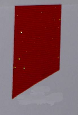 Dazzle (Glittered Grosgrain) - Red LARGE