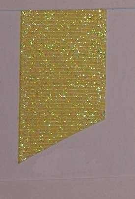 Dazzle (Glittered Grosgrain) - Baby Maize LARGE