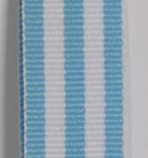 Grosgrain Striped Ribbon - Baby Blue