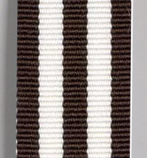 Grosgrain Striped Ribbon - Chocolate