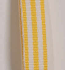 Grosgrain Striped Ribbon - Yellow