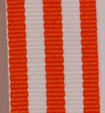 Grosgrain Striped Ribbon - Orange LARGE