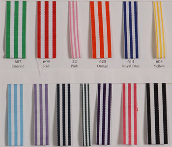 Grosgrain Stripes - Sample Card