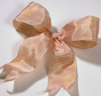 Lyon French Wired Ribbon - Apricot