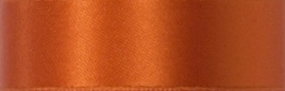 Swiss Double Face Satin Ribbon - Pumpkin LARGE
