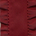 Double Ruffle Ribbon - Wine LARGE