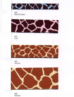 Giraffe Print Ribbon - Sample Card