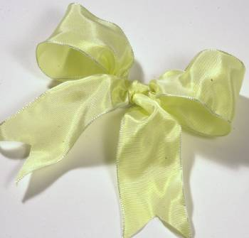 Lyon French Wired Ribbon - Light Yellow LARGE