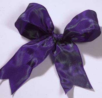 Lyon French Wired Ribbon - Iridescent Purple LARGE