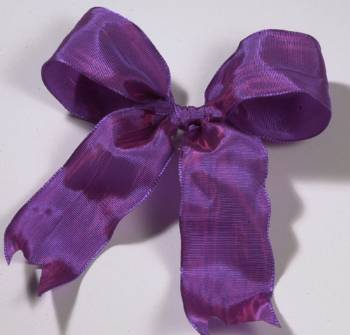 Lyon French Wired Ribbon - Raspberry LARGE
