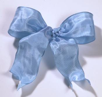 Lyon French Wired Ribbon - Baby Blue